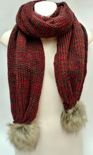 Women's Accessories   FA2550 - Red Blend Scarf   FAB