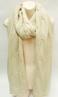 Women's Accessories | FA2553 -Cream Scarf | FAB