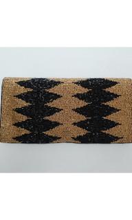 Women's Bags | FA2599 - Brown Beaded Clutch | FAB