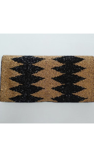 Women's Bags | FA2599 - Brown Beaded Clutch | FAB