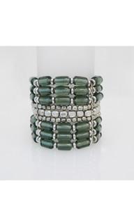 Women's Accessories | FB2577 - Green Beaded Bracelet | FAB