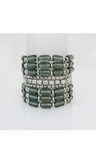Women's Accessories | FB2577 - Green Beaded Bracelet | FAB