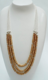 Women's Accessories | FN2566- Ivory Multi-Strand Necklace | FAB