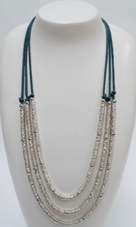 Women's Accessories | FN2566- Teal Multi-Strand Necklace | FAB
