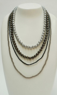 Women's Accessories | FN2572 - Multi-Strand Beaded Necklace |FAB