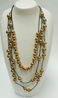 Women's Accessories | FN2576 - Gold Beaded Necklace | FAB