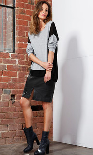 Women's Skirts | Mika Leather Skirt | FATE