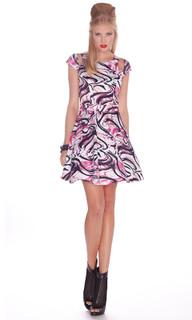 Ladies Dresses   Daiquiri Skater Dress   HONEY & BEAU