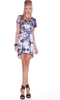 Ladies Dresses   Cosmo Keyhole Dress   HONEY & BEAU