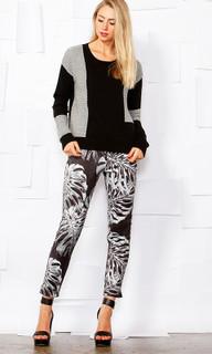 Women's Knitwear | Lurex Patch Knit | SASS