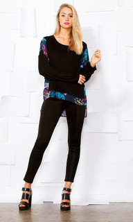 Women's Tops | Floral Fever Slouch Top | SASS
