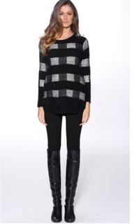 Women's Knitwear | Checkers Knit | HONEY & BEAU