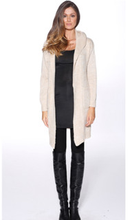 Women's Knitwear | Hooded Cardi | HONEY & BEAU
