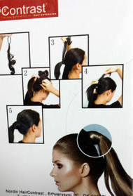 Hair Contrast /Rubber Cover for ponytails .