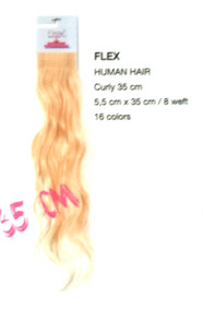 Flex Extension 35 cm Curly /volume/Fashion 100% human hair