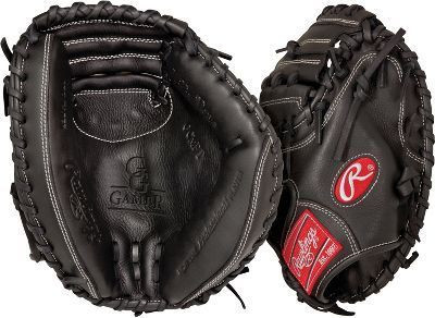 """This GG Gamer Pro Taper Catcher's Mitt features the One Piece Closed Web, which creates maximum strength and durability. With its 32"""" pattern, the glove forms a good pocket, which makes it easier to control the ball and scoop up pitches in the dirt. This glove was design with a smaller hand opening and lower finger stalls for Youth. With the GG Gamer Series from Rawlings you can have a glove with pro quality features, without paying the big league price. Pro soft leather creates a soft, broken-in feel that is game-ready. These gloves feature moldable padding that allows you to shape the pocket based on your position. Its Conventional back drives flexibility and strength, this glove also has a finger pad which makes it easier to squeeze. This Catcher's mitt now comes with Poron XRD Palm Protection which drastically reduces ball impact to your hand."""