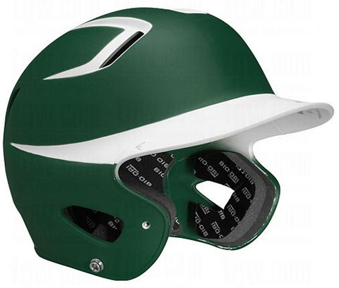"Easton Natural Grip 2-Tone Batting Helmet JUNIOR Rubberized matte finish for modern look and great feel Slimmest profile and most aerodynamic venting system on market High grade ABS shell for strength and durability Dual density foam padding provides protection, comfort, and ""Best Fit"" Bio-Dri moisture management padding liner Meets NOCSAE standards Hat size 6-3/8 - 7-1/8"