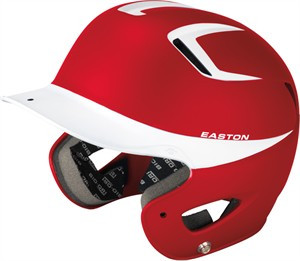 "Easton Natural Grip 2-Tone Batting Helmet SENIOR Rubberized matte finish for modern look and great feel Slimmest profile and most aerodynamic venting system on market High grade ABS shell for strength and durability Dual density foam padding provides protection, comfort, and ""Best Fit"" Bio-Dri moisture management padding liner Meets NOCSAE standards"