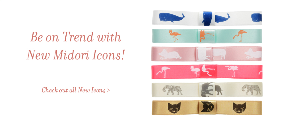 Wholesale Icons on printed ribbon