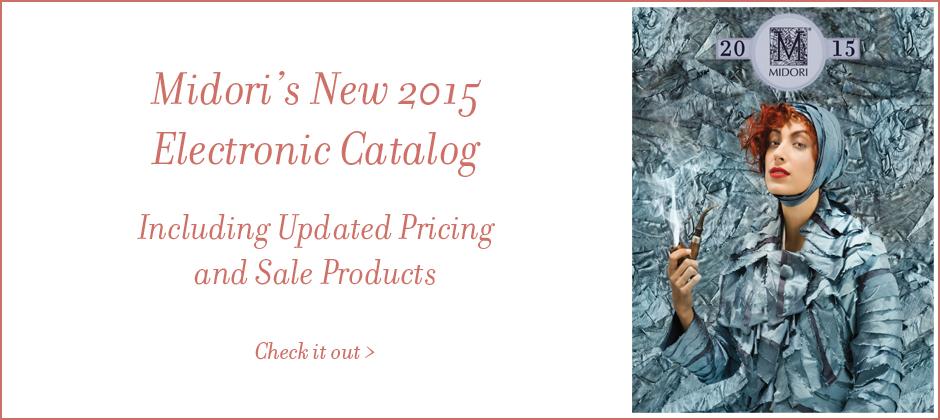 Midori's new 2015 Electronic Catalog