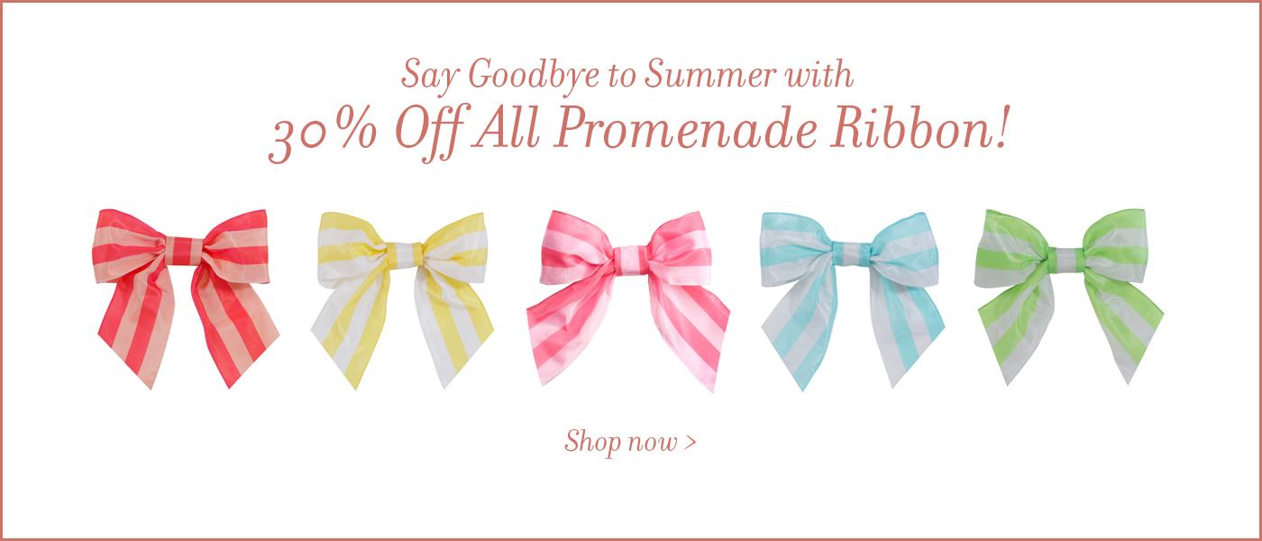 Promenade Ribbon Sale