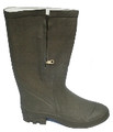 Furlined Green Boot - Zip