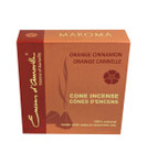 Orange Cinnamon Maroma Incense Cones