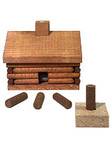 Log Cabin Paines Incense Burner