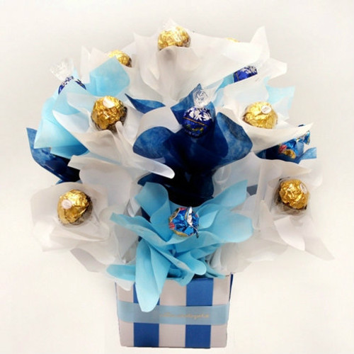 Blue Chocolate Bouquet