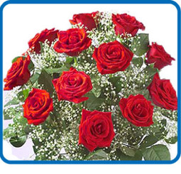 Dozen Long-Stem Red, Yellow, White or Pink Roses