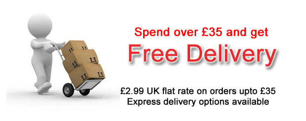 Free Delivery - Spend over £35 to qualify