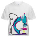 Tee shirt -- microscope