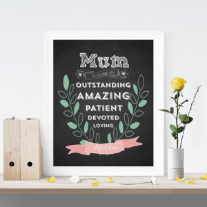 "Mum You are Amazing chalkboard print (8"" x 10"")"