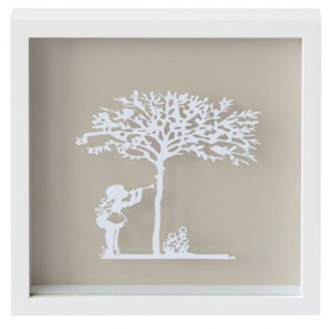 Sweet Music Vintage Kids Paper Art Frame in Latte