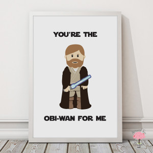 Star Wars Obi-Wan Print with optional Australian-made white timber frame