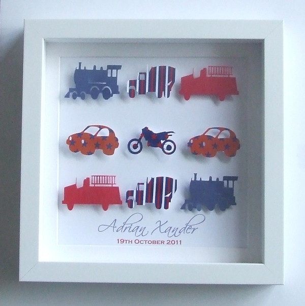 Small mixed transport frame in Red, White and Blue