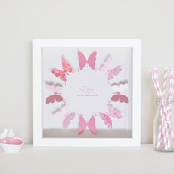 Small Butterflies Circle in Berry Pink