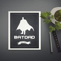 Personalised Bat Dad Print in Black