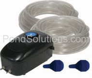 SCEPA2 Small Pond Aeration Kit For Ponds Up To 1200 Gallons, Dual Diffuser