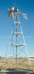SCWM12W 12' Three Leg Windmill Pond Aerator 100' Quick Sink & SCEPMD2 Diffuser