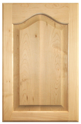 Stained Raised Panel with Cathedral Doors - Oak