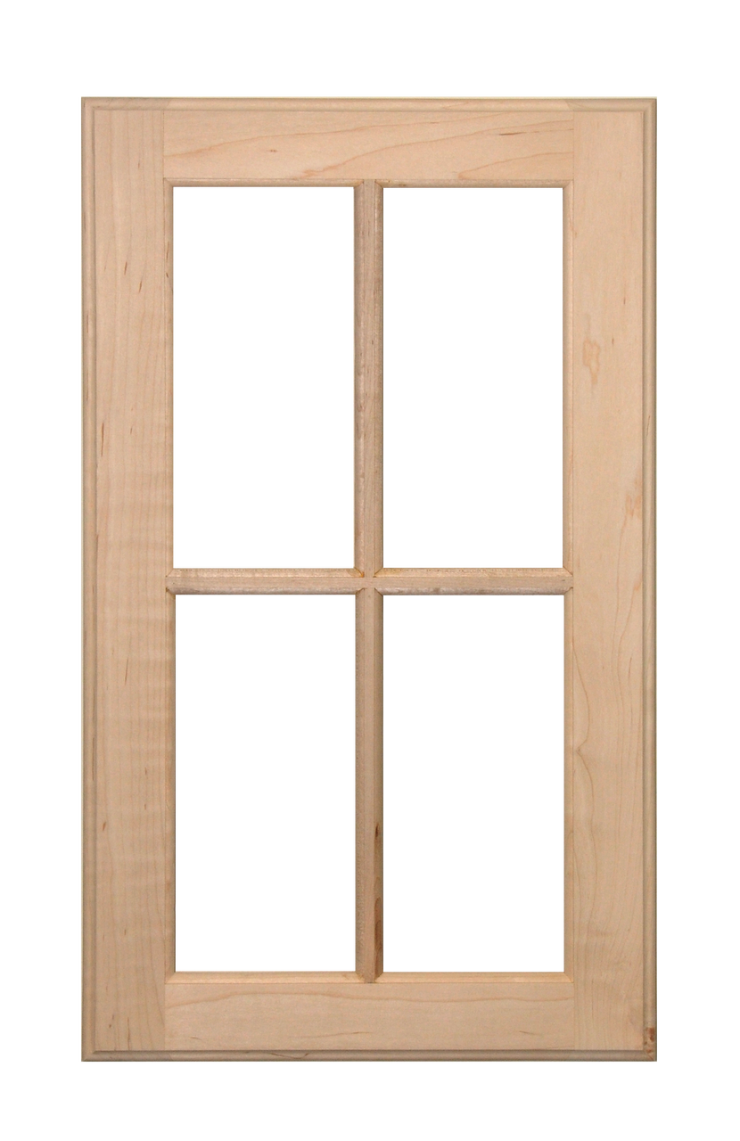 Stained four panel glass pane door oak cabinet door world for 2 pane window