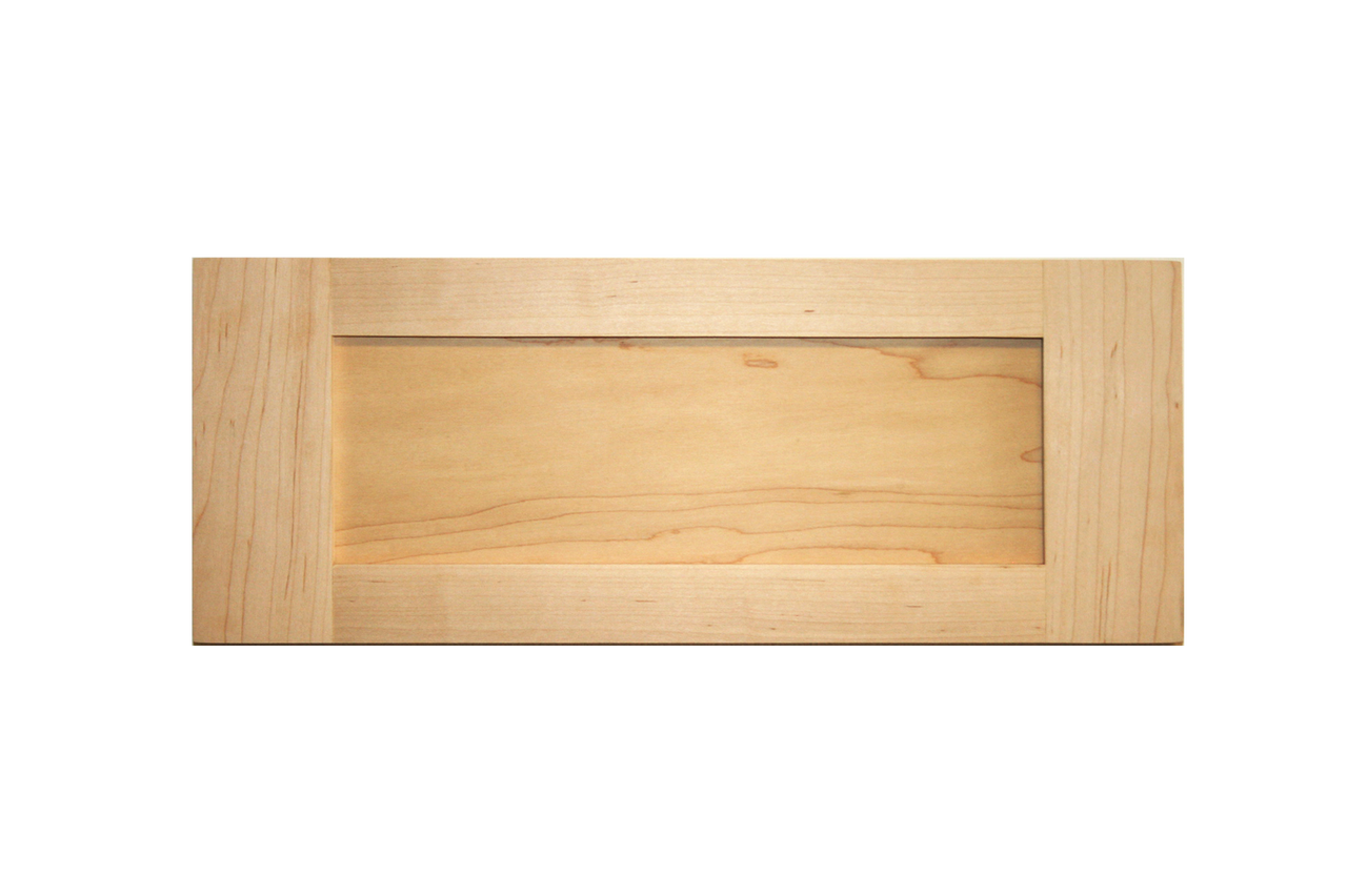 Door fronts stained shaker drawer front maple cabinet for Door and drawer fronts