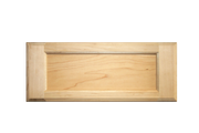 Stained 5-Piece Flat Panel Drawer Fronts - Maple