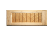 Stained 5-Piece Flat Beaded Panel Drawer Fronts - Oak