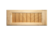 Stained 5-Piece Flat Beaded Panel Drawer Fronts - Maple