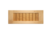 Stained 5-Piece Flat Beaded Panel Drawer Fronts - Cherry