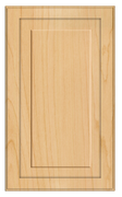 Thermofoil Raised Panel Doors - Natural Maple