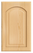 Thermofoil Raised Panel With Arch Doors -  Natural Maple