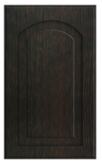 Thermofoil Raised Panel With Arch Doors - Espresso Oak